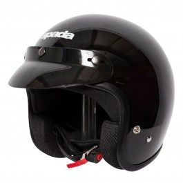 Spada  open face Helmet Gloss black